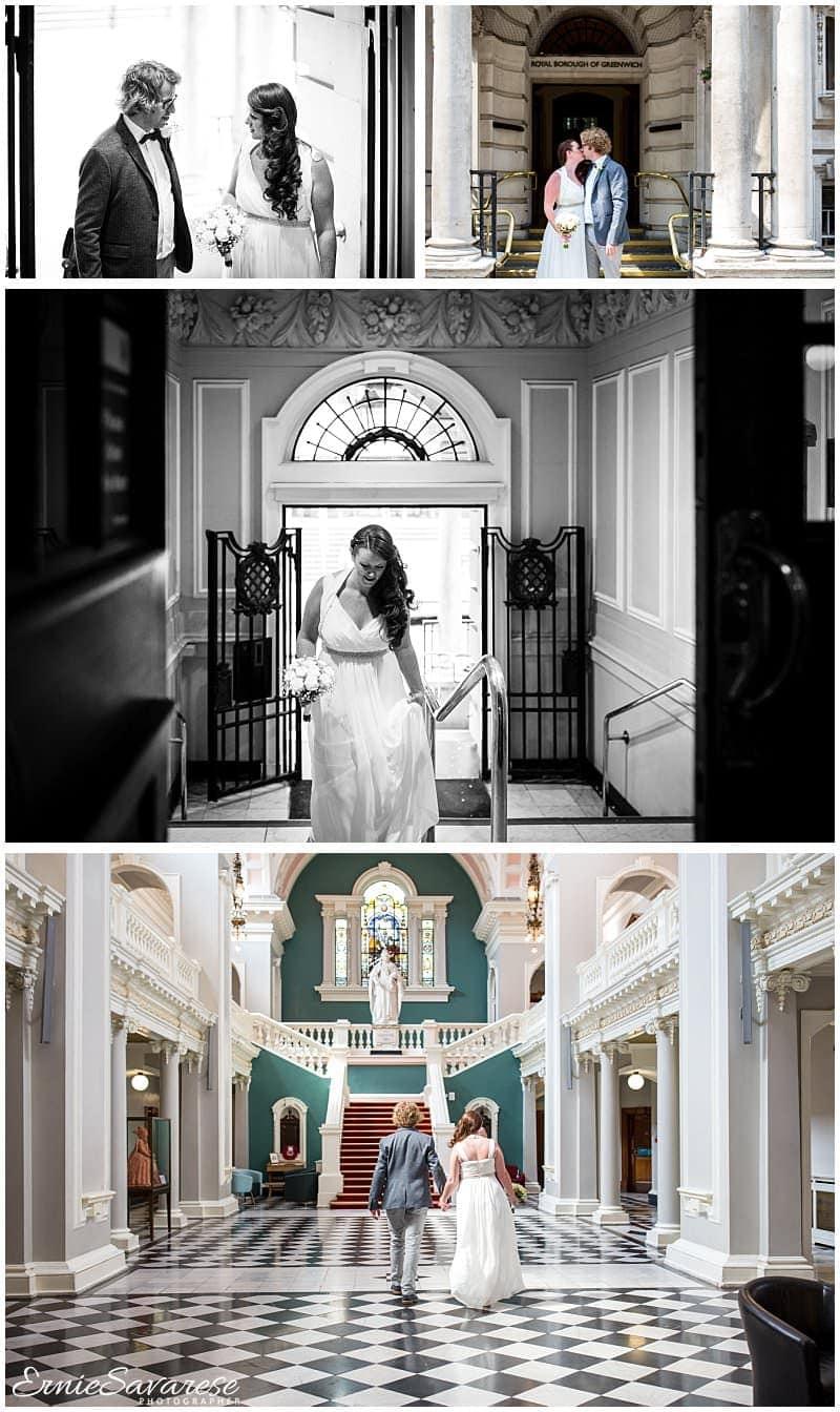 Woolwich Town Hall Trafalgar Tavern Wedding Photographer